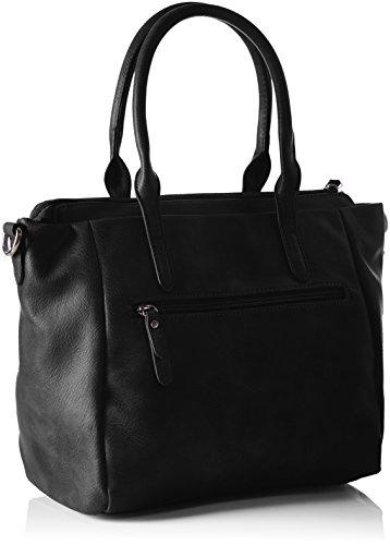 Tom Tailor Acc Damen Jany Shopper, 35 x 23 x 14 cm Schwarz (schwarz 60)