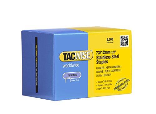 Tacwise 1228 Boîte de 5000agrafes en acier inoxydable pour agrafeuse 73x 12mm