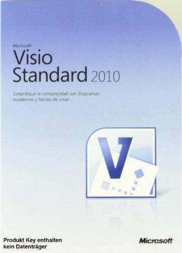 Microsoft Visio 2010 Standard Vollversion deutsch 1PC (ohne Datenträger) [License] Windows (Visio Ms 2010)