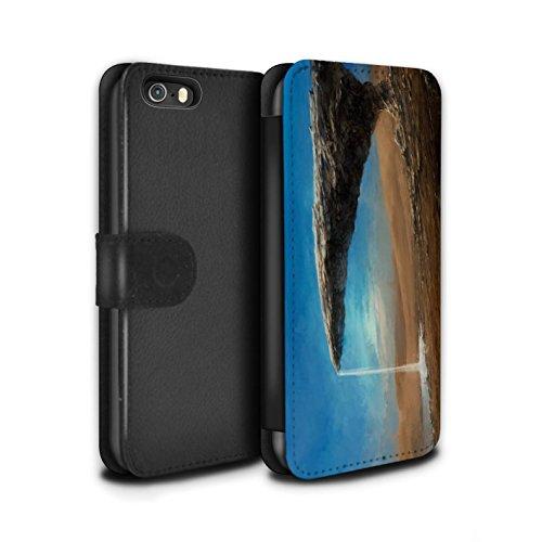 Offiziell Chris Cold PU-Leder Hülle/Case/Tasche/Cover für Apple iPhone 5/5S / Exoplanet Muster / Galaktische Welt Kollektion Exoplanet