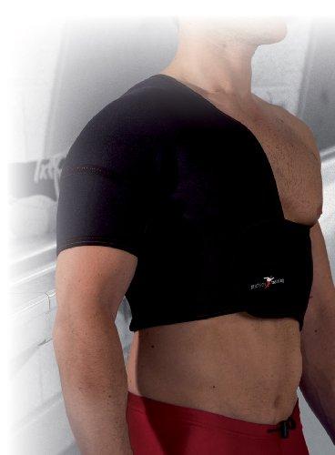 Precision Training Schulterbandage, halbe Größe (rechts), aus Neopren mehrfarbig schwarz/red M