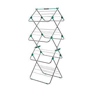 Addis Easi 3-Tier Indoor Airer, 15 M Drying Space - Metallic Aqua (Silver/Aqua)