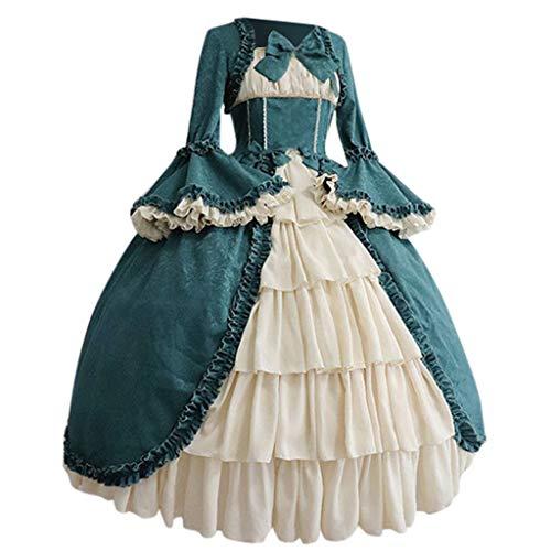MakefortuneDamen Damen Renaissance Kleid Mittelalter Kostüm Kostüm