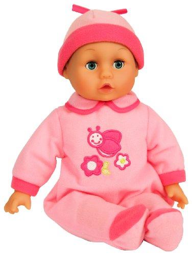 Bayer Design - My little baby, muñeco bebé con ojos móviles, 12 sonidos, 30 cm (93007)