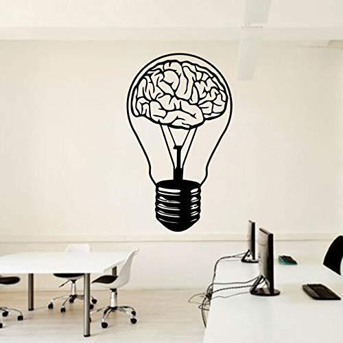 Wuyyii 34X57Cm Brain Bulb Wall Decal Idee Büro Zeichen Dekoration Vinyl Aufkleber Motivation Art Inspirtaional Murals Selbstklebend
