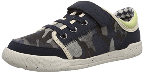 Clarks  Kintor Go Jnr, Sneakers basses garçon Bleu - Blau (Navy/Multi)