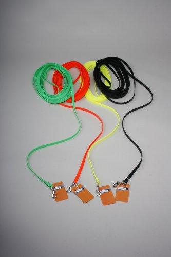 10 m genähte BioThane® Schleppleine / 13 mm / 4 Farbvarianten / Leine mit Handschlaufe / schwarz
