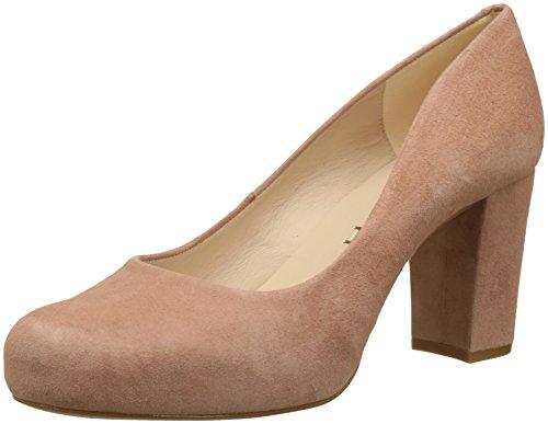 Unisa Numis_18_KS, Zapatos de tacón con Punta Abierta para Mujer, Rosa Printemps, 39 EU
