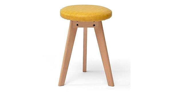 Wssf sgabello nordic legno solido tavola rotonda sala trucco