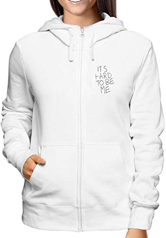 Sweatshirt TDM00136 donna Hoodie Zip Weiss TDM00136 Sweatshirt IT IS Hard  TO BE Me 5b01f8 cb8ee85bb42f