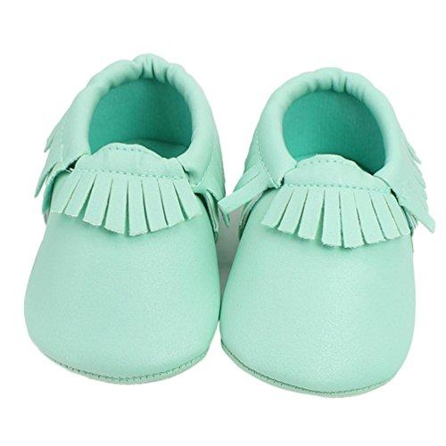 BZLine® Weich Baby Schuhe rutschfeste Baumwolle Infant Neugeborenen Babyschuhe Grün
