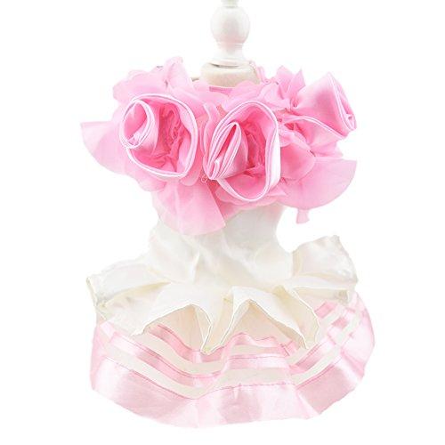 Cute Flower Dog Luxus Kleid Tier Katze Tutu Rock Prinzessin Hochzeit Kleid Hund Chihuahua Kleidung Braut ()