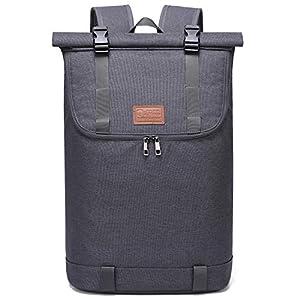 Myhozee Damen Rucksack Herren Wasserdichter Roll Top Rucksäcke Laptop Rucksack 15,6 Zoll Diebstahlschutz Daypacks…