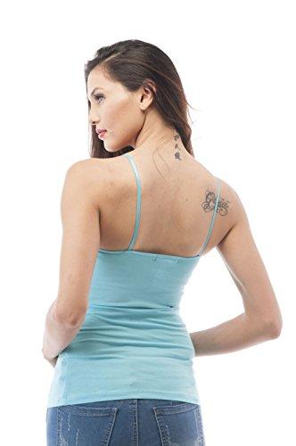 Hollywood Star Fashion femmes Spaghetti sangle Débardeur pour femme Aqua