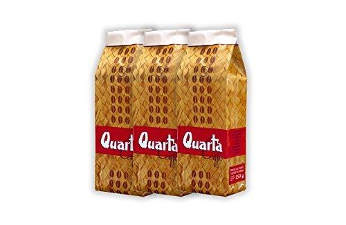 Caffè Quarta Stuoia in grani. N. 3 confezioni da 500 g. Caffè italiano pugliese salentino prodotto e confezionato in Salento....