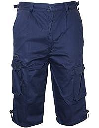 Safari cargo combat militaire shorts tailles 76.2cm - 111.8cm en 9 Camouflage & Couleurs Unies