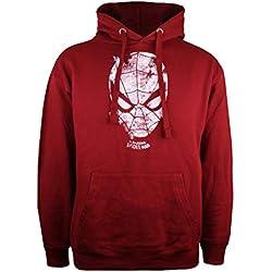 Marvel Spiderman-Webhead Capucha, Rojo (Pepper Red Prd), Talla del Fabricante: Medium para Hombre