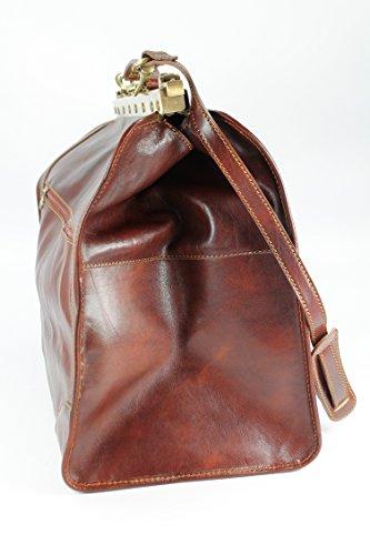 "Belli® ""Doc Bag XXL italiana. Borsa in pelle borsa da viaggio Weekender MARRONE–�?3x 43x 27cm (B x H x T) Marrone"