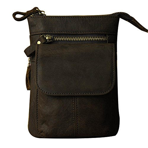Genda 2Archer Piccola Pelletteria Vita Travel Bag Pouch del Sacchetto del Collo Fondina Borse (18-FSBR)
