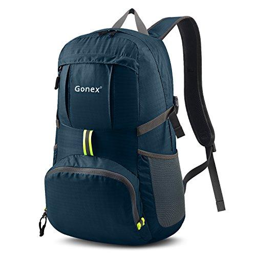 Gonex Groß Faltbarer Rucksack 35L als Reiserucksack, Tagesrucksack, Handgepäck