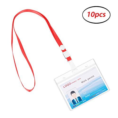 Cohesiongo Ausweishalter, transparenter Kunststoff, wasserdicht, verschließbar S-10 Pack Horizontal