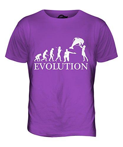 CandyMix Aquarium Evolution Des Menschen Herren T Shirt Violett
