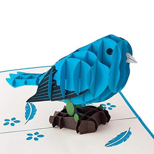 Blauer Vogel hochwertiges Geschenk für Frauen und Männer detailreich und lebendig – Lustiges und kleines Geschenk für Geburtstage, Glückwunsch – Mit