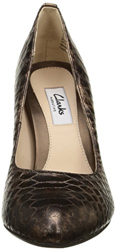 Clarks Always Chic, Escarpins femme Marron (Bronze Metallic)