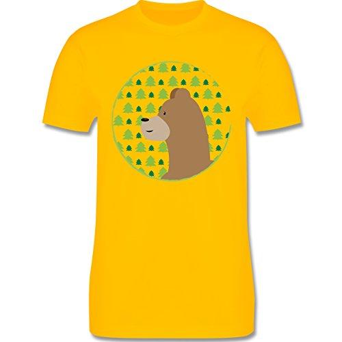 Wildnis - Tiermotiv Bär - Herren Premium T-Shirt Gelb