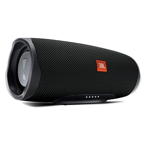 JBL Charge 4 Portable Bluetooth Speaker and Power Bank with Rechargeable Battery - Waterproof - Black