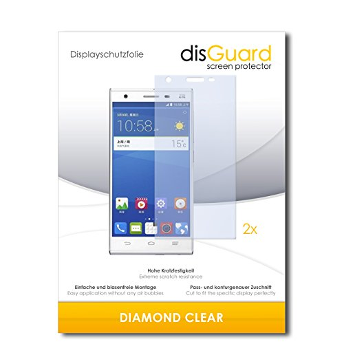 2 x disGuard® Bildschirmschutzfolie ZTE Star 2 Schutzfolie Folie