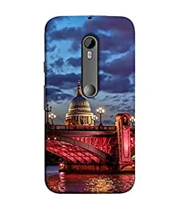 PrintVisa Designer Back Case Cover for Moto G3 (dashing look of old monument)