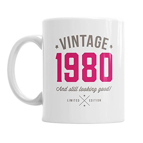 Vintage 1980 Mug for 40th Birthday
