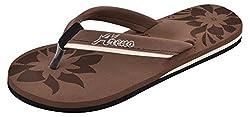Areno Girls Brown PU House Slippers_5 UK