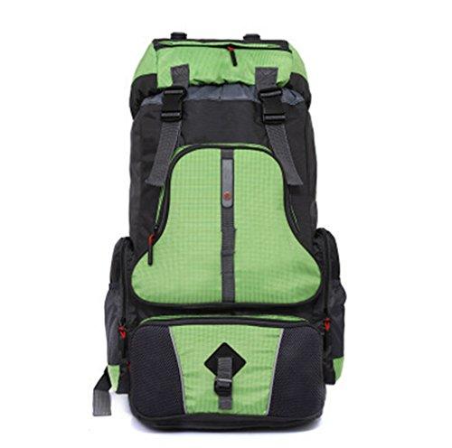 augustsport großes Fassungsvermögen Bergsteigen backpack-60l, Unisex, grün