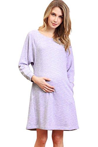 SO5011 Tunique de grossesse et allaitement Lavande
