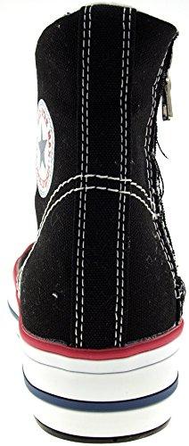 Maxstar  C7-5cm, Chaussons montants femme Noir - noir