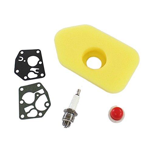 Ise Service Pack Kit: Filtro de Aire Spark Plug Diafragma & Juego De Juntas Imprimación Bombilla adecuado para briggs & stratton Motores de CV & 3.75hp Sprint y Classic Reemplazar 272235281028694394-& 495770/795083/494408
