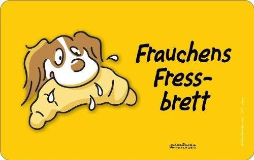 Frauchens Fressbrett: Rahmenlos® Frühstücksbrettchen, küchen- und lebensmittelgerechtes Resopal 23,5 x 14,5 cm