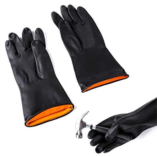 Guanti in lattice chemical antiscivolo resistente gomma dpi industriale sicurezza lavoro guanti protettivi guanti lunghi guanti da cucina