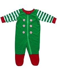 Zolimx Frohe Weihnachten Pajamas Christmas Set Family Clothes Streifen Print Damen Herren und Kinder Trainingsanzug Passende Kleidung für die Familie Outfits