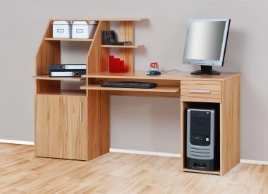 4031 - Computertisch / Schreibtisch / PC-Tisch, kernbuche gebraucht kaufen  Wird an jeden Ort in Deutschland