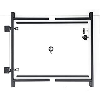 Fence Walk Through Gate Kit - Adjust-A-Gate Steel Frame No Sag Gate Building Kit - This anti-sag gate kit is perfect for repairing existing sagging gates or building new ones. (60-96 wide openings up to 5' high fence) by Adjust-A-Gate