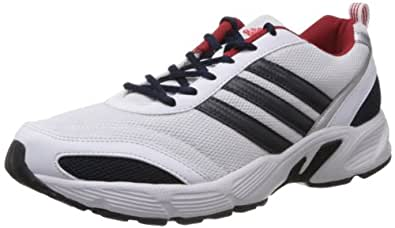 adidas Men's Imba M White, Grey and Red Running Shoes - 10 UK