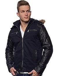 aa4fcc647e8d Suchergebnis auf Amazon.de für  jacke mit lederärmeln herren  Bekleidung