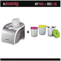 Turbine à glace H.Koenig HF180 + bols bo3.18