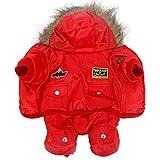 Haustier-warme Kleidung mit Kapuze Overall Winddicht bequem, atmungsaktiv und langlebig Jacke Mantel