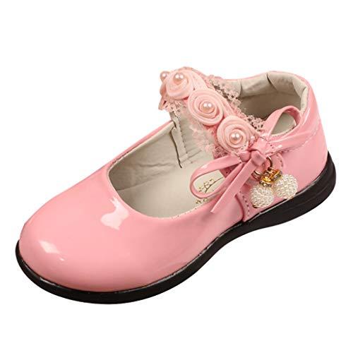 Sanahy Babyschuhe Ballerinas/Dorical Mädchen Sommer Schuhe Kinderschuhe mit Butterfly-Knot und Spitze Outdoor Casual Schuhe Party Prinzessin Schuhe Festliche Schuhe 26-36 EU (Butterfly-netze-party)