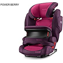 Recaro 6148.21508.66 Asiento Infantil para coche Monza Nova IS seatfix, Power Berry