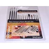 Blackspur Künstlerpinsel / Malpinsel, verschiedene Größen, 15 Stück